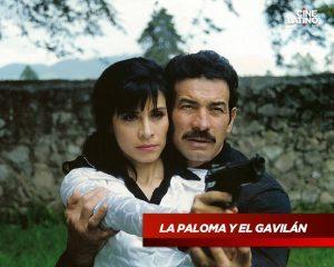 """La actriz Jackie Torres y Toño Infante en """"La Paloma y El Gavilán"""""""